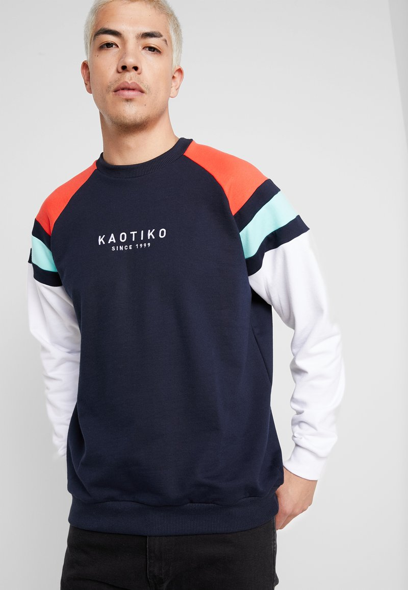 Kaotiko - CREW AXEL - Sweatshirt - navy