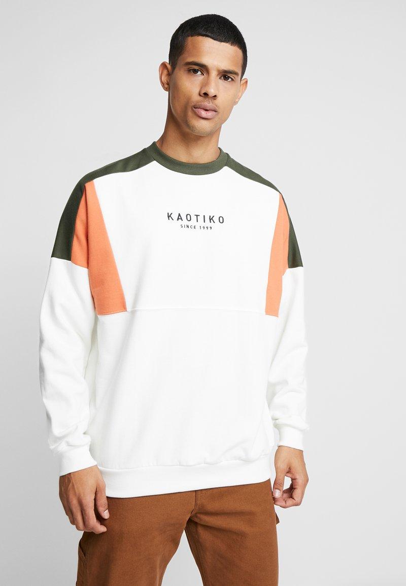 Kaotiko - Sweater - white/green