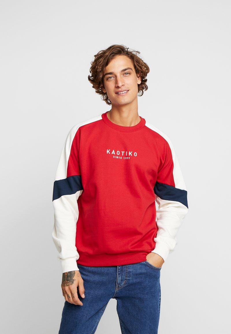 Kaotiko - Sweater - red/white
