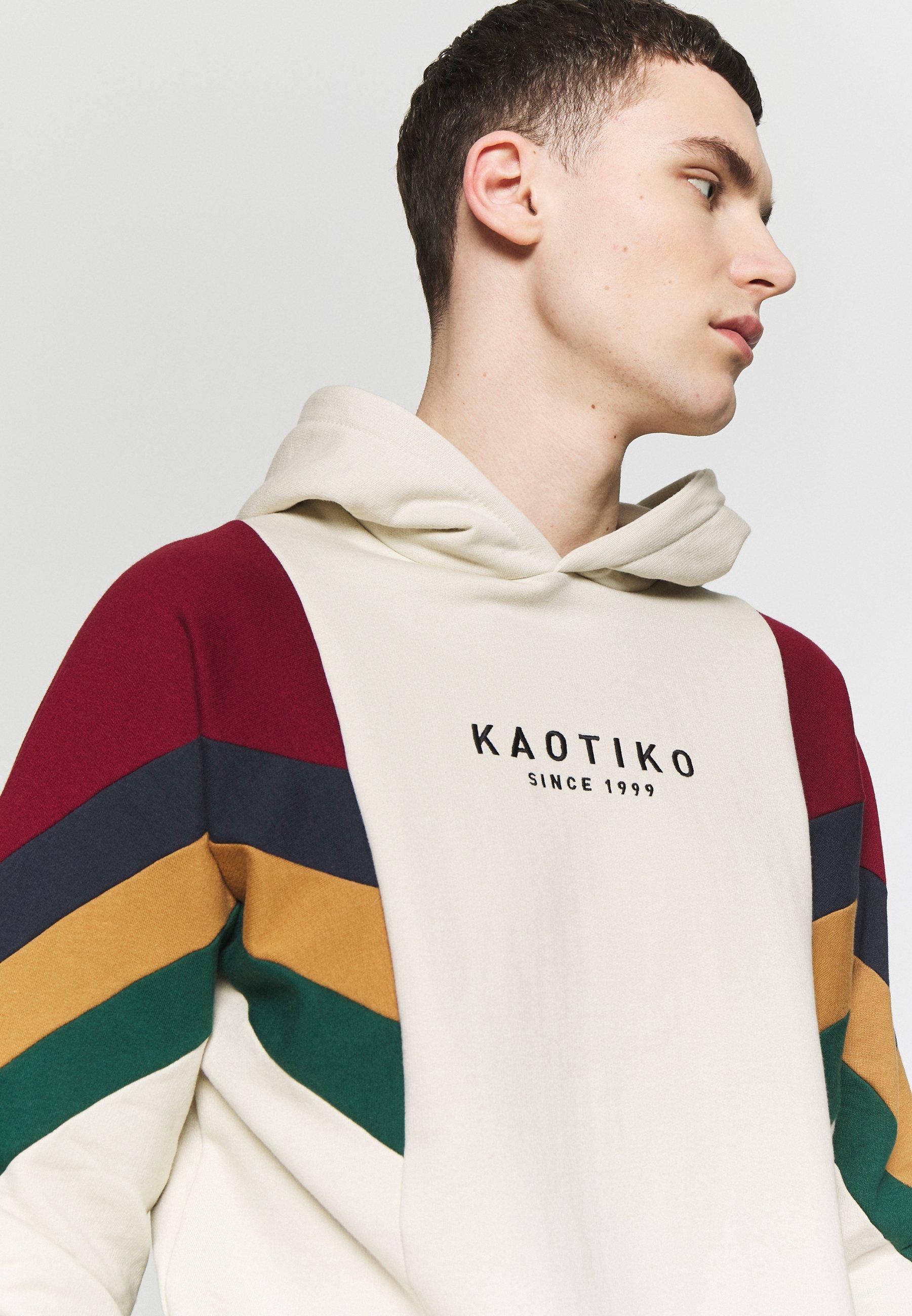 Kaotiko SUD CAP EWAN - Bluza z kapturem - white