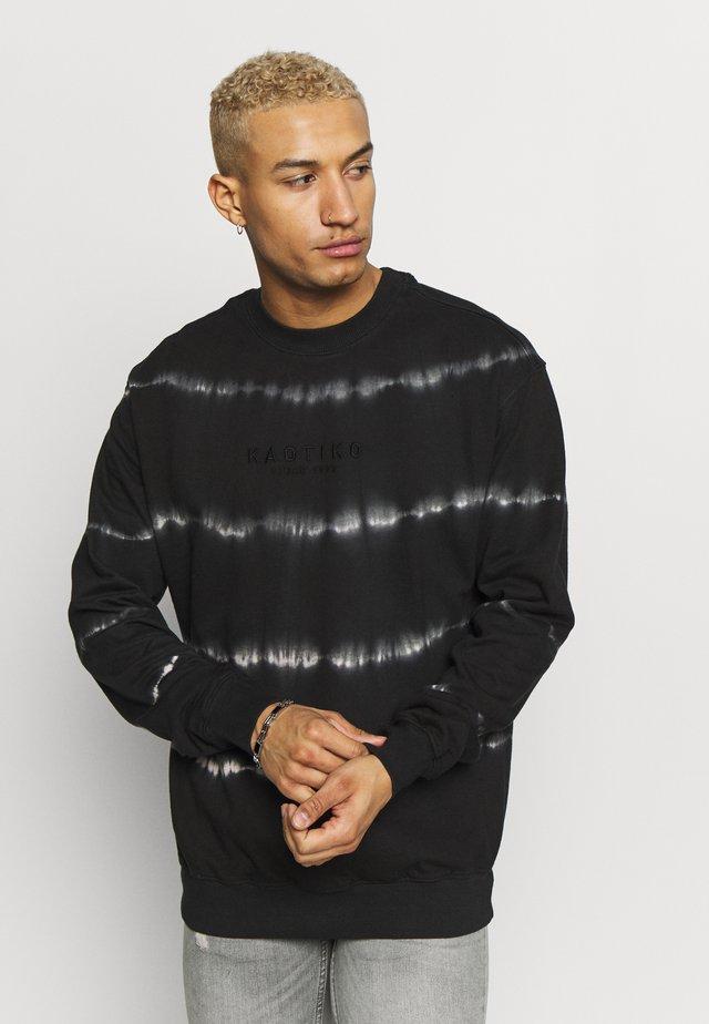 CREW TIE DYE - Sweatshirt - black