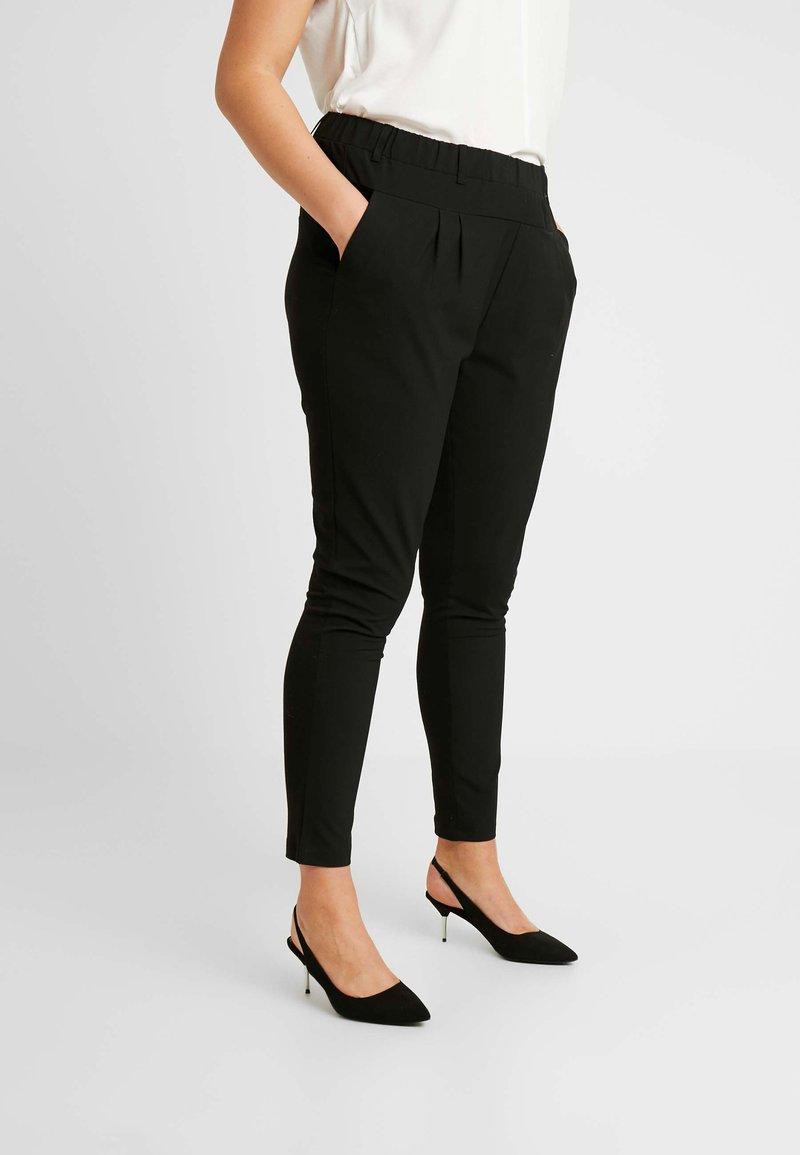 Kaffe Curve - JIA PANTS - Trousers - black deep