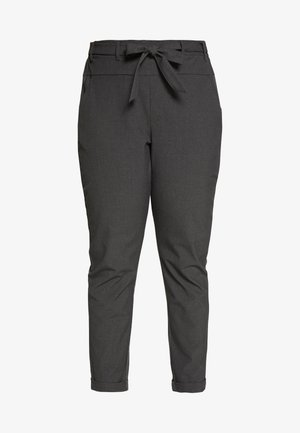 JIA BELT PANTS - Pantalon classique - dark grey melange