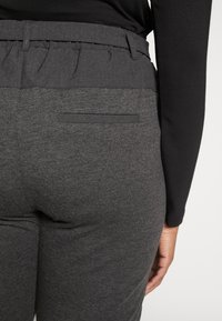 Kaffe Curve - JIA BELT PANTS - Trousers - dark grey melange - 6
