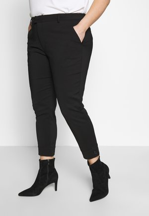 KCSANIE CROPPED PANTS - Trousers - black deep