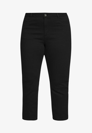 CROPPED - Slim fit jeans - black deep