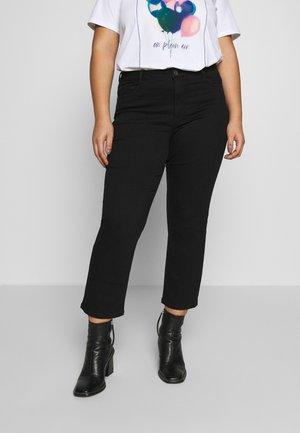 CROPPED - Slim fit jeans - black deep