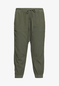 Kaffe Curve - CAPRI PANTS - Kalhoty - grape leaf - 3