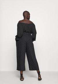 Kaffe Curve - DANKA CULOTTE PANTS - Kalhoty - black deep - 2