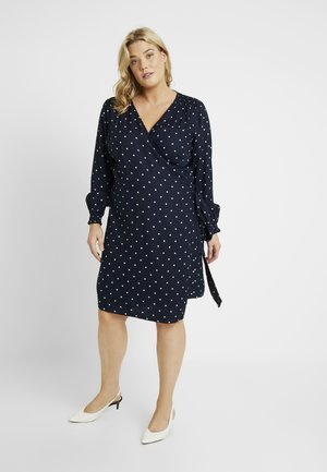 KCELENORA WRAP DRESS - Day dress - midnight marine