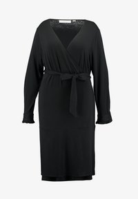 Kaffe Curve - PINA WRAP DRESS - Trikoomekko - black deep - 6