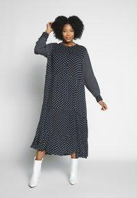 Kaffe Curve - DORA DRESS - Denní šaty - black deep - 1