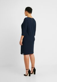 Kaffe Curve - BEA CROPPED SLEEVE DRESS - Trikoomekko - midnight marine - 2