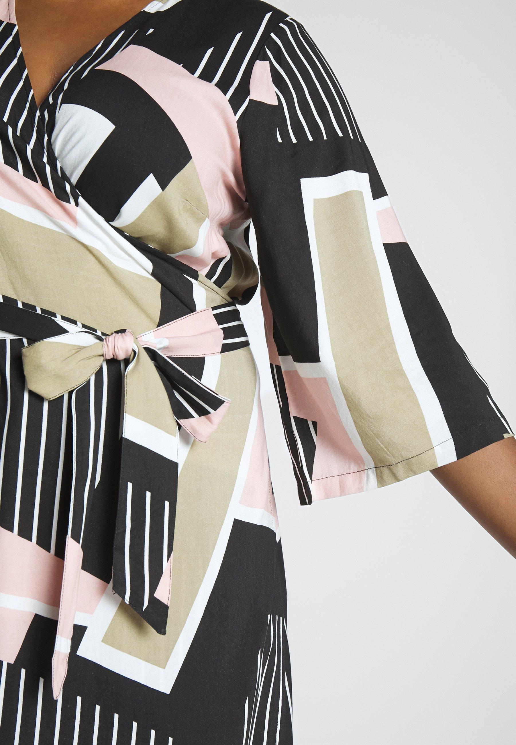 Kaffe Curve KCVERONICA WRAP DRESS - Sukienka letnia - light pink