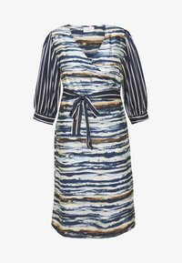 Kaffe Curve - WRAP DRESS - Robe d'été - midnight marine - 4