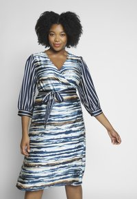 Kaffe Curve - WRAP DRESS - Robe d'été - midnight marine - 0