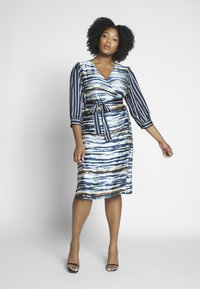 Kaffe Curve - WRAP DRESS - Robe d'été - midnight marine - 1