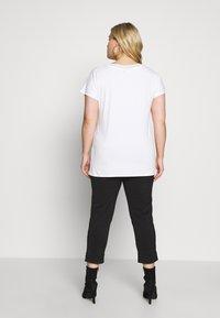 Kaffe Curve - KCMARGIT - T-shirt basique - chalk - 2