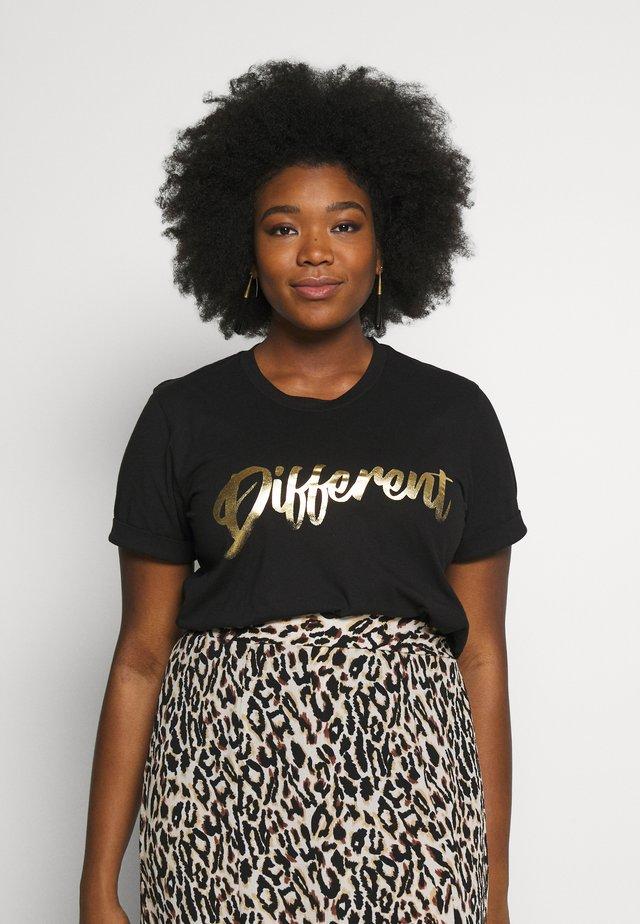 TIVA - T-shirt med print - black