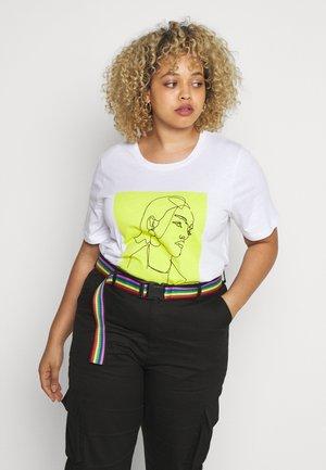 CRANDI - T-shirts med print - optical white
