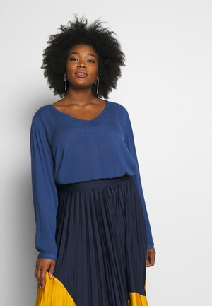 KCAMI V NECK - Tunic - true navy