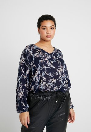 EVITA BLOUSE - Blouse - midnight marine