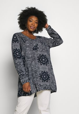 CLISE TUNIC - Tunic - midnight marine