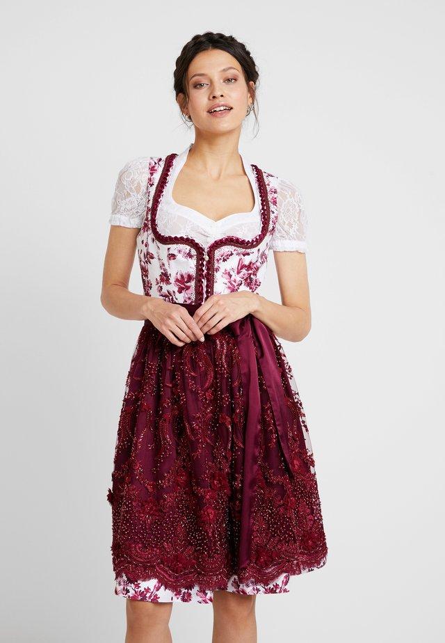 Folkedans nationaldragt Tyrol - bordeaux