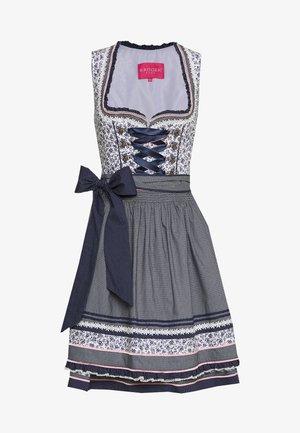 Folkedans nationaldragt Tyrol - weiß/blau