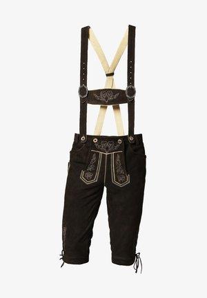 Pantalon en cuir - braun