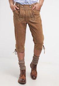 Krüger Dirndl - Kožené kalhoty - hellbraun - 3