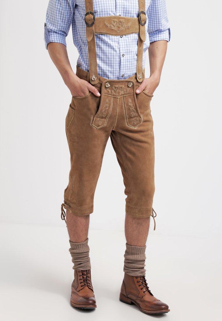 Krüger Dirndl - Kožené kalhoty - hellbraun