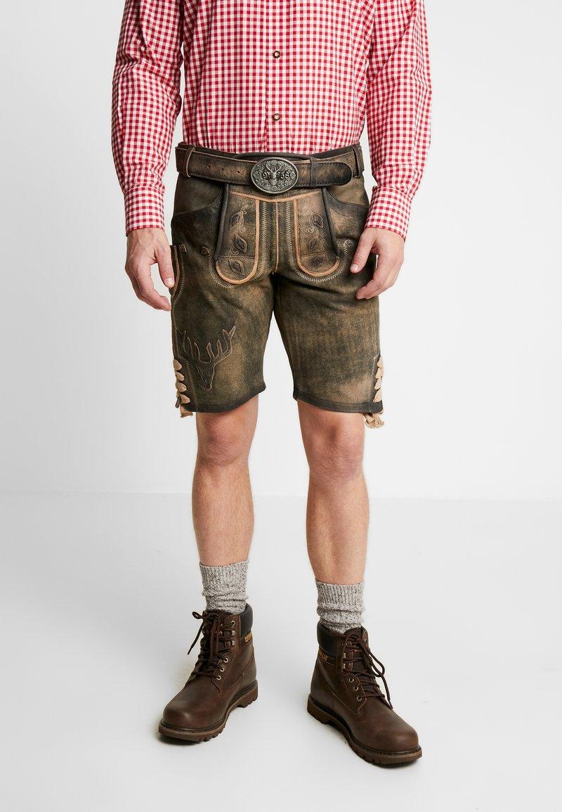 Krüger Dirndl - Kožené kalhoty - braun