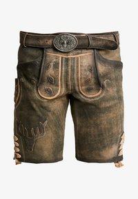 Krüger Dirndl - Kožené kalhoty - braun - 3