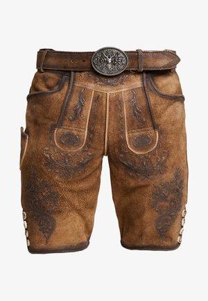Kožené kalhoty - hellbraun