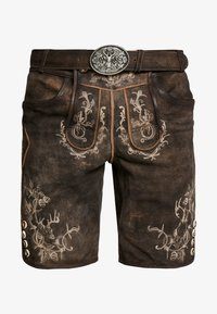 Krüger Dirndl - Pantaloni di pelle - dunkelbraun - 4