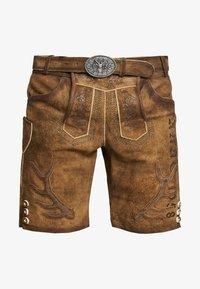 Krüger Dirndl - Kožené kalhoty - braun - 5
