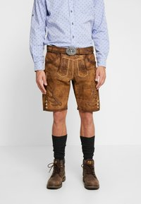 Krüger Dirndl - Kožené kalhoty - braun - 0