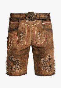 Krüger Dirndl - Kožené kalhoty - brown - 3