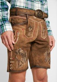 Krüger Dirndl - Kožené kalhoty - brown - 4