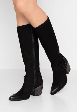 LUNA - Cowboy/Biker boots - schwarz/black