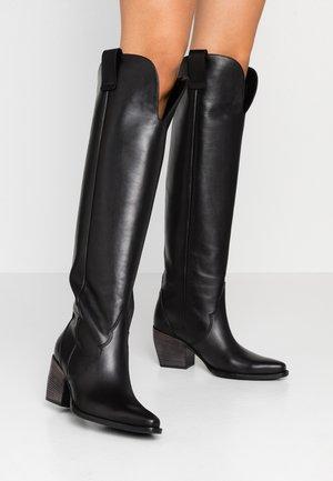 LUNA - Cowboy/Biker boots - schwarz