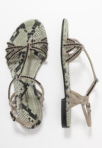 Kennel + Schmenger - ELLE  - T-bar sandals - shilf/black - 3