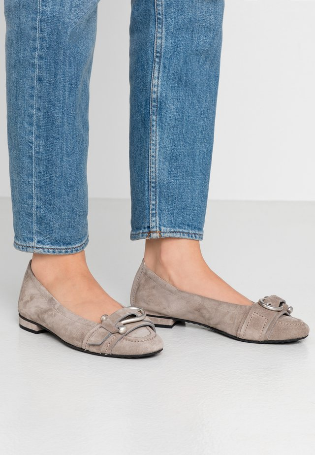 MALU - Ballet pumps - taupe/silver