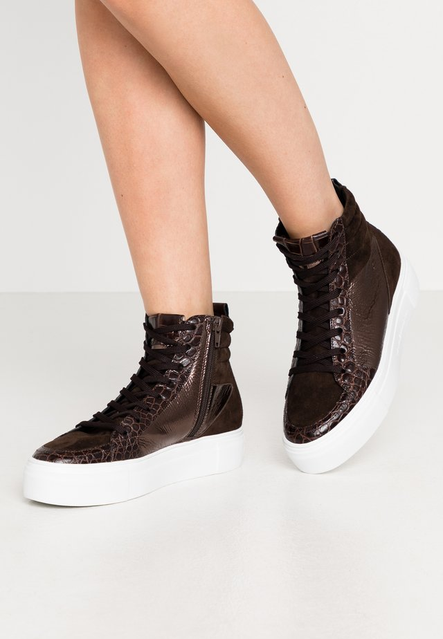 BIG - Höga sneakers - bronze/braun/mocca