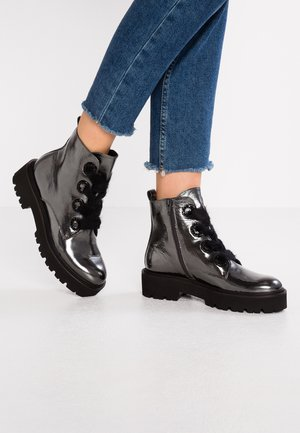 BOBBY - Kotníkové boty na platformě - antracite/black