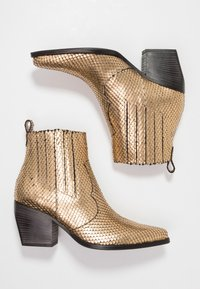 Kennel + Schmenger - LUNA - Boots à talons - gold/schwarz - 3