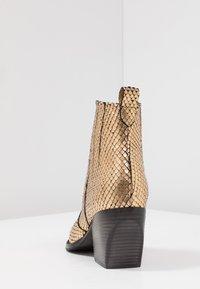 Kennel + Schmenger - LUNA - Boots à talons - gold/schwarz - 5