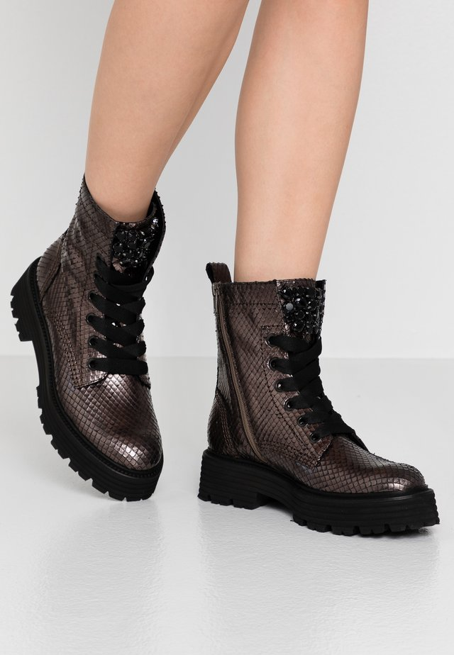 POWER - Platform ankle boots - smoke/black