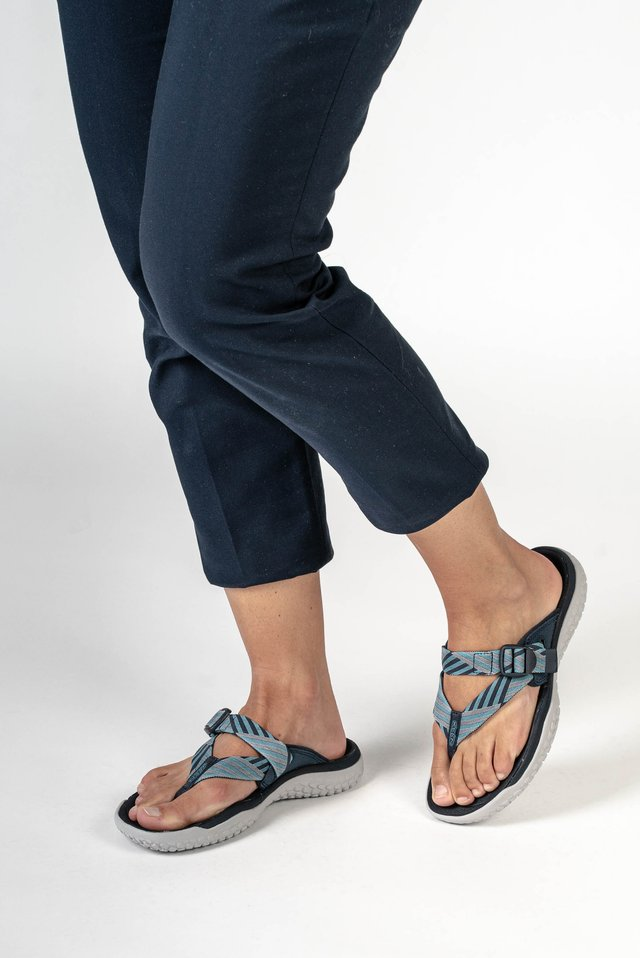SOLR TOE POST - Teensandalen - navy/blue mist